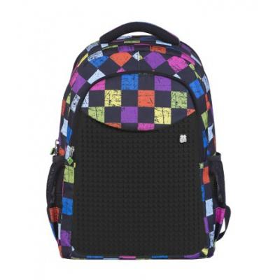 Rucsac pentru școală cu pixeli creativi cu carouri colorate PXB-06-Y24