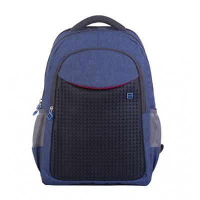 Rucsac pentru școală cu pixeli creativi  albastru PXB-05-E24