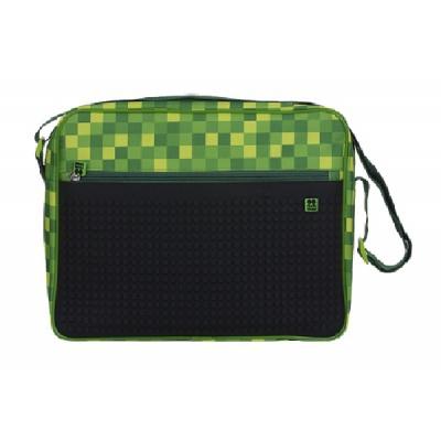 Geanta de umar cu pixeli creativi verde cu carouri PXB-04-D24