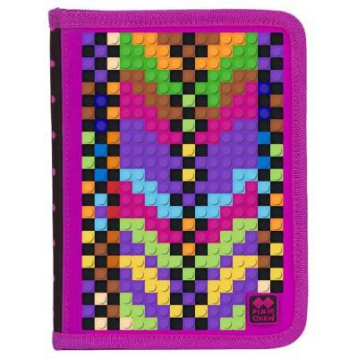Penar scolar cu pixeli creativi fuxia /negru PAX-04-L15