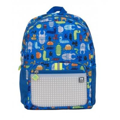 Rucsac pt. copii cu picseli creativi, gandaci/fosforescenta PXB-18-02