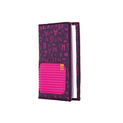 Agendă cu pixeli creativi cu copertă cu alfabet violet PXN-07