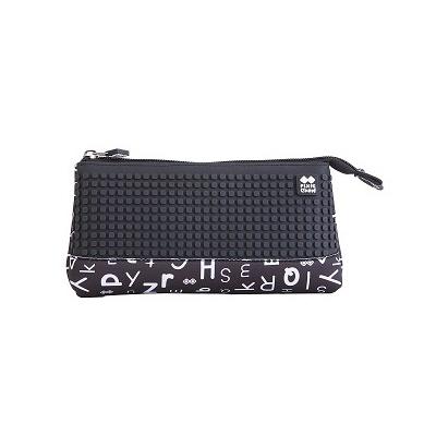 Penar scolar cu pixeli creativi litere negru PXA-02
