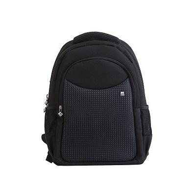 Rucsac/ghiozdan pentru școală pixel creativ negru PXB-05-L24