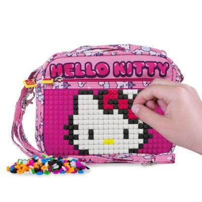 Borsetă de umăr cu pixeli creativi Hello Kitty - inorog PXB-09-88