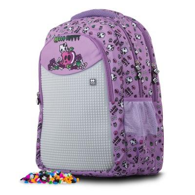 Ghiozdan cu pixeli creativi Hello Kitty violet PXB-06-89