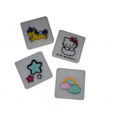 Brățară cu pixeli creativi fuchsia  Hello Kitty