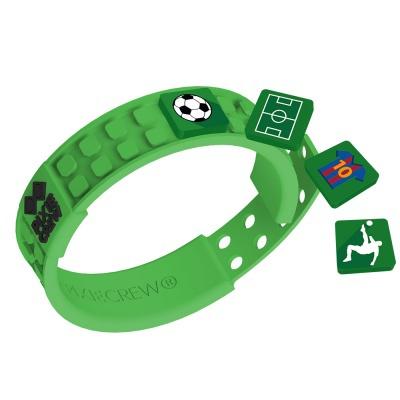 Brățară cu pixeli creativi verde-fotbal