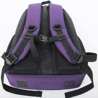 Rucsacul scolar cu pixeli creativi violet cu litere PXB-16