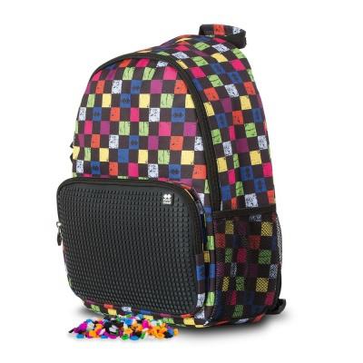 Rucsac agrement cu pixeli creativi carouri multicolor/negru PXB-02-Y24