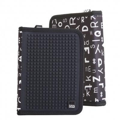 Penar scolar cu pixeli creativi negru cu litere PAX-04