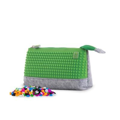 Penar scolar cu pixeli creativi gri/verde PAX-01-W07