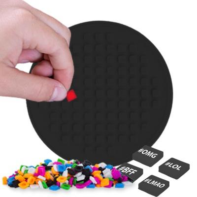 Panou rotund cu pixeli negru PXX-07-24
