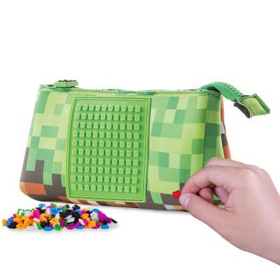 Penarul școlar cu pixeli creativi Minecraft verde/maro PAX-02-83